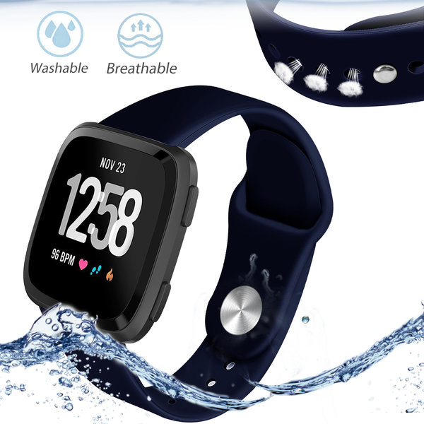 123Watches Fitbit versa silicone sangle - bleu marin