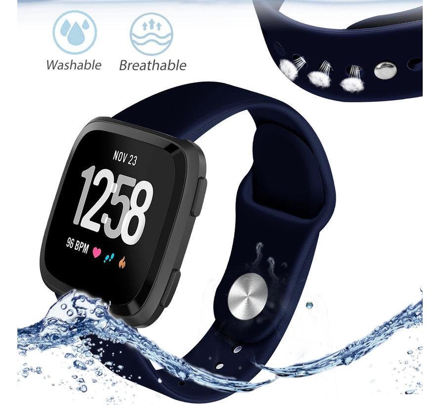 Fitbit versa sport band - marine blauw