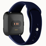 123Watches.nl Fitbit versa silicone sangle - bleu marin