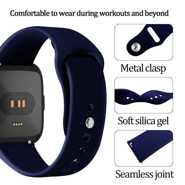 123Watches Fitbit versa silicone band - marine blauw