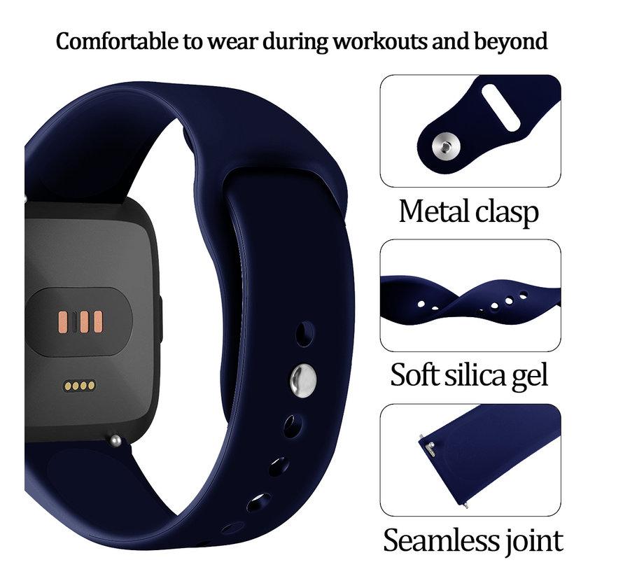 Fitbit versa silicone band - marine blauw