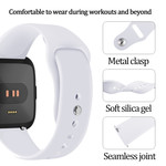 123Watches Fitbit versa silicone band - wit