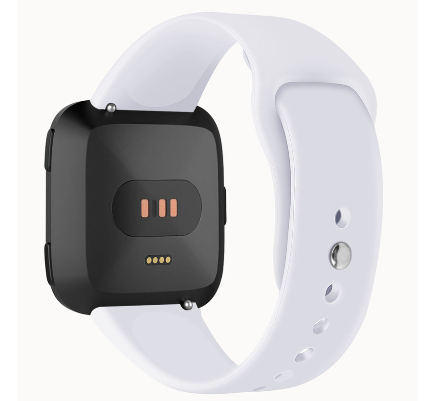 Fitbit versa silicone band - wit