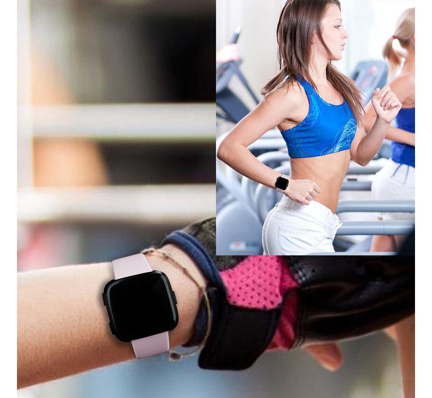 Fitbit versa silicone band - roze zand