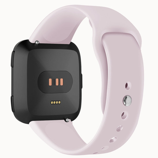 123Watches.nl Fitbit versa silicone band - pink sand