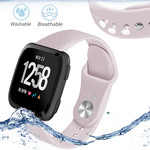123Watches Fitbit versa silicone band - pink sand
