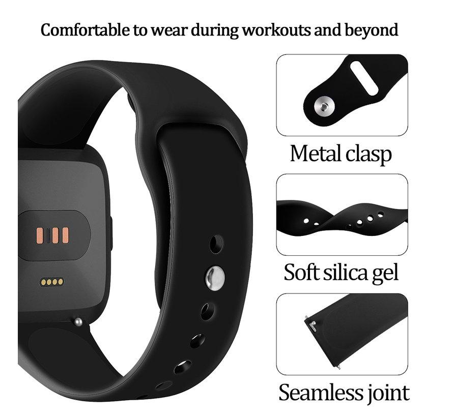 Fitbit versa silicone band - zwart