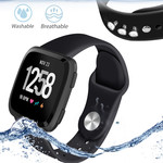 123Watches Fitbit versa silicone sangle - noir