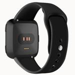 123Watches.nl Fitbit versa silicone band - zwart