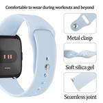 123Watches Fitbit versa silicone sangle - bleu clair