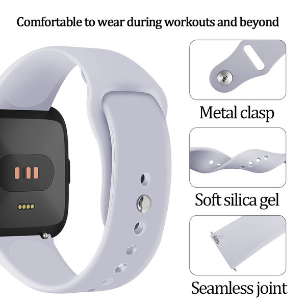 123Watches Fitbit versa silicone band - gray