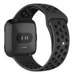 123Watches Fitbit versa dubbel sport band - zwart zwart