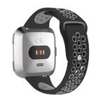 123Watches.nl Fitbit versa doppelt sport band - schwarz grau