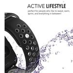 123Watches Fitbit versa dubbel sport band - zwart grijs