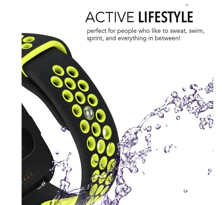 Fitbit versa dubbel sport band - zwart groen