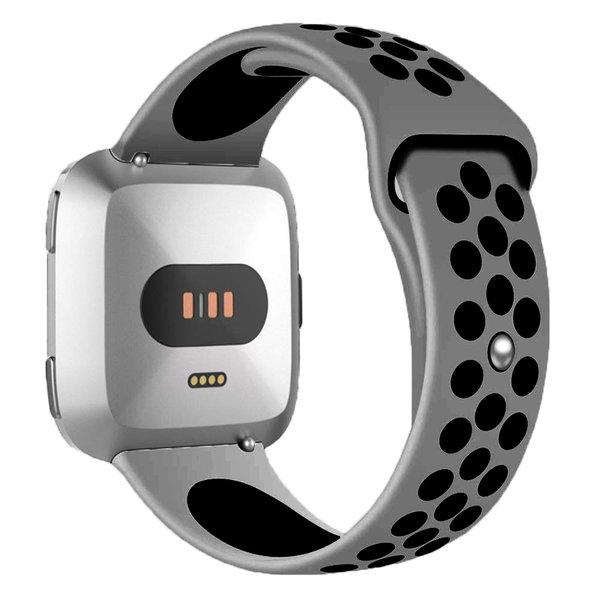 123Watches Fitbit versa double sport sangle - gris noir