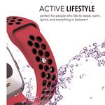 123Watches Fitbit versa dubbel sport band - rood zwart