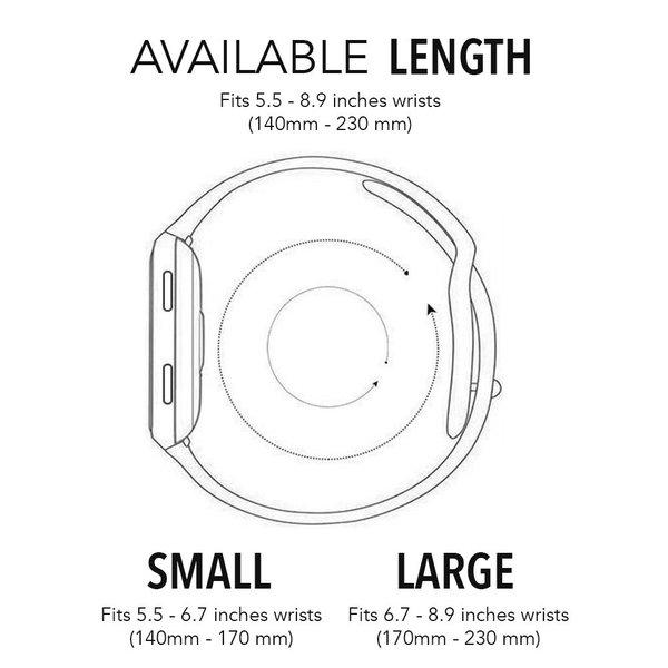 123Watches Fitbit versa dubbel sport band - wit zwart