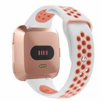 123Watches Fitbit versa double sport band - white pink