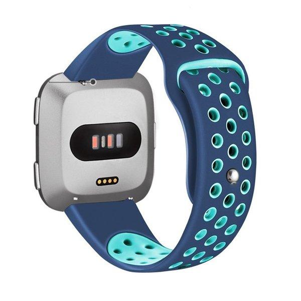 123Watches Fitbit versa double sport band - blue light blue