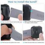 123Watches Fitbit versa sport band - leger groen