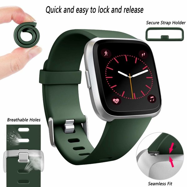 123Watches Fitbit versa sport band - army green