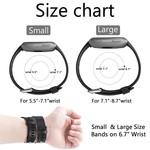 123Watches Fitbit versa sport band - zwart