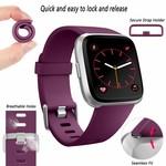 123Watches Fitbit versa sport sangle - violet foncé