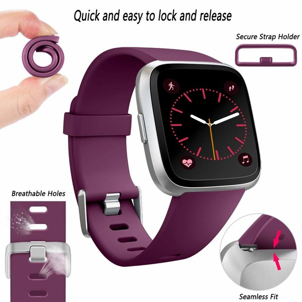 123Watches Fitbit versa sport band - donkerpaars