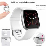 123Watches.nl Fitbit versa sport band - wit
