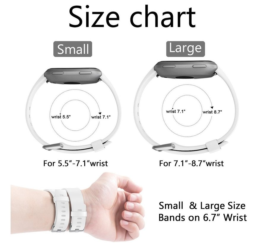 Fitbit versa sport band - wit