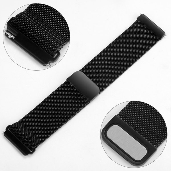 123Watches Fitbit versa milanese band - zwart