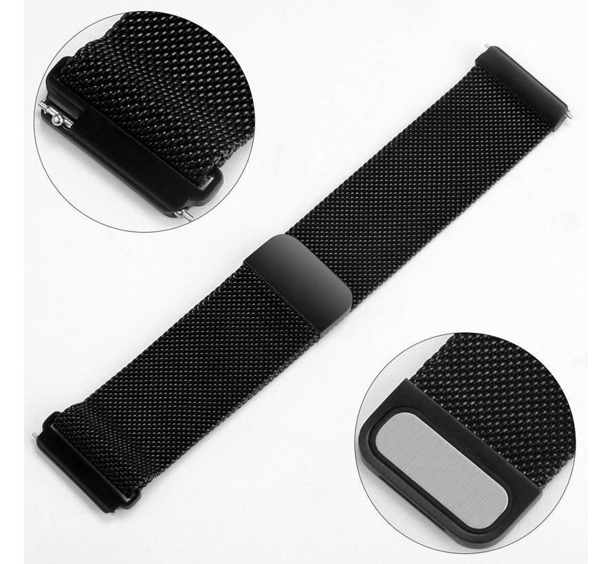 Fitbit versa milanese band - zwart