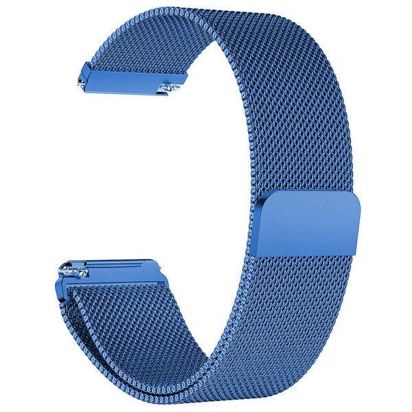 123Watches.nl Fitbit versa milanese band - blauw