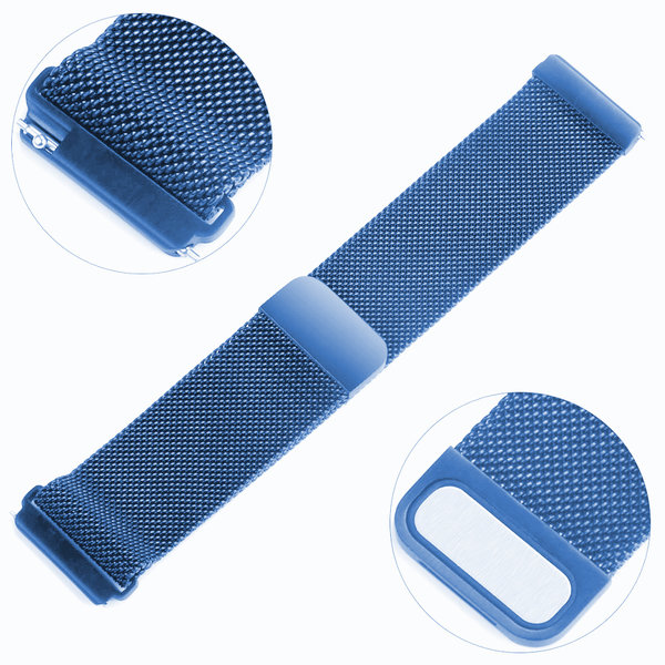 123Watches.nl Fitbit versa milanese band - blue