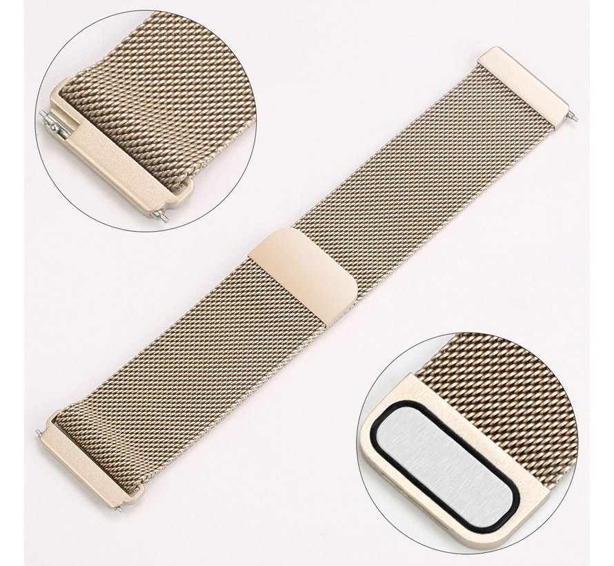 Fitbit versa milanese band - champagner