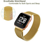 123Watches.nl Fitbit versa milanese band - gold