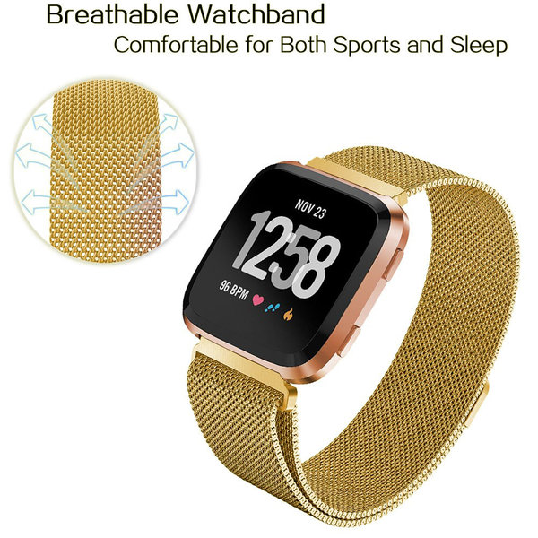 123Watches Fitbit versa milanese band - or