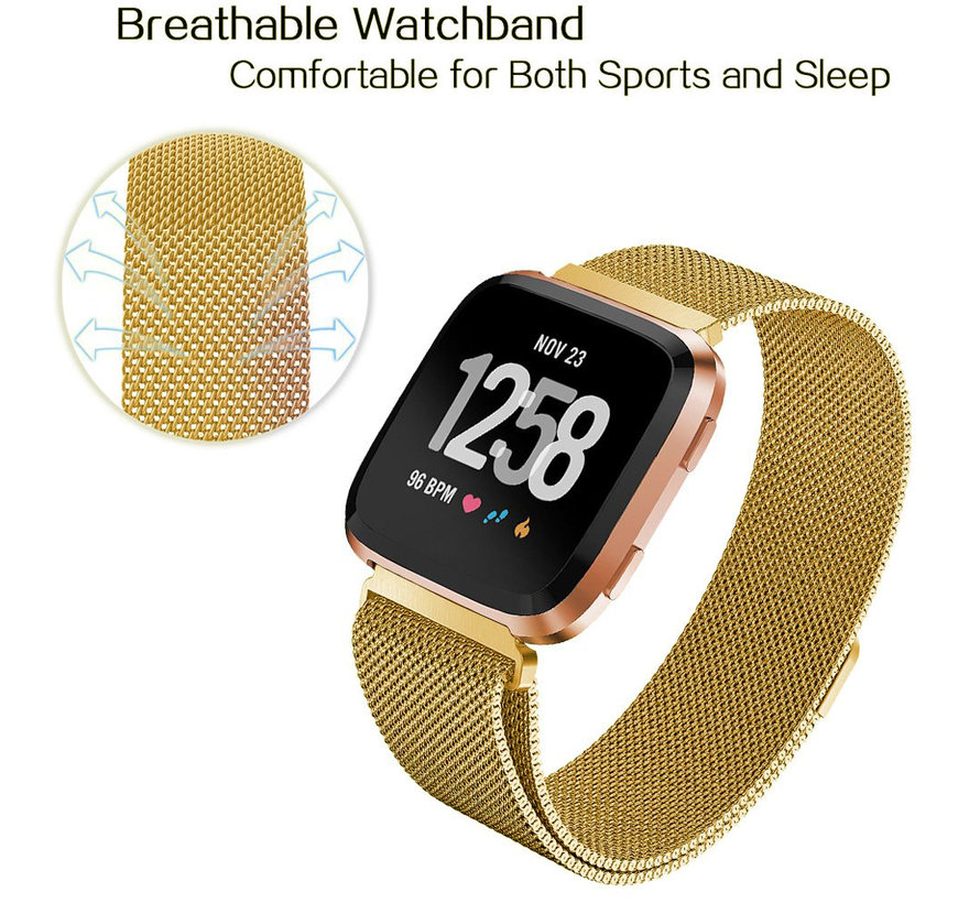 Fitbit versa milanese band - gold