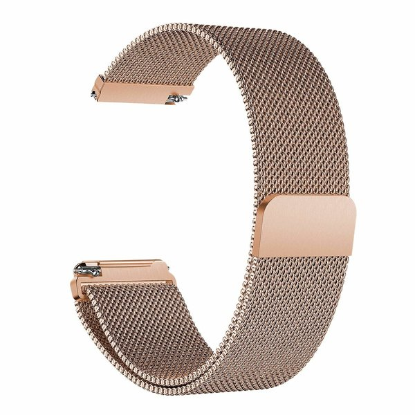 123Watches Fitbit versa milanese band - rose goud