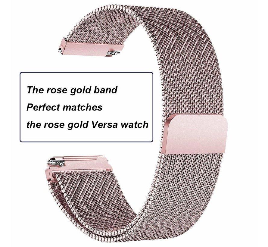 Fitbit versa milanese band - rose red