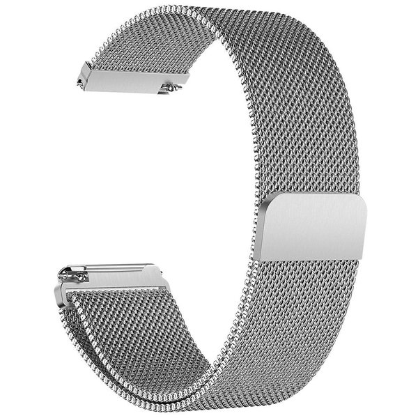 123Watches.nl Fitbit versa milanese band - zilver
