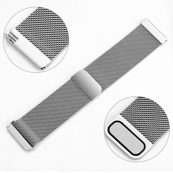 123Watches.nl Fitbit versa milanese band - silber