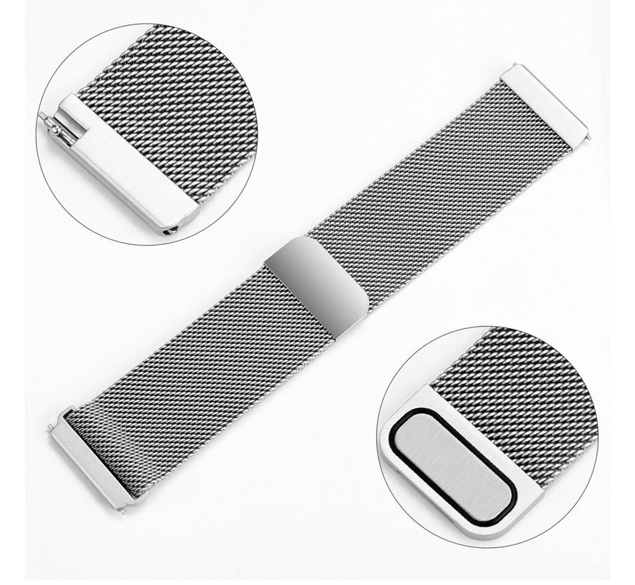 Fitbit versa milanese band - silver