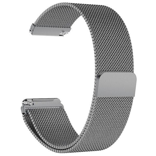 123Watches Fitbit versa milanese band - gun zwart