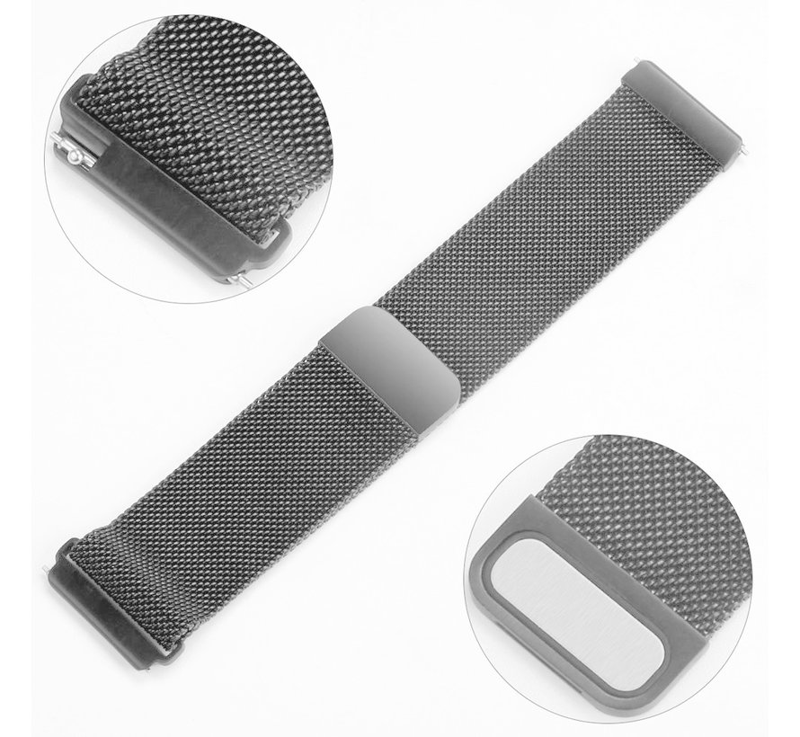 Fitbit versa milanese band - ruimte zwart