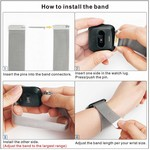 123Watches Fitbit versa milanese band - ruimte zwart