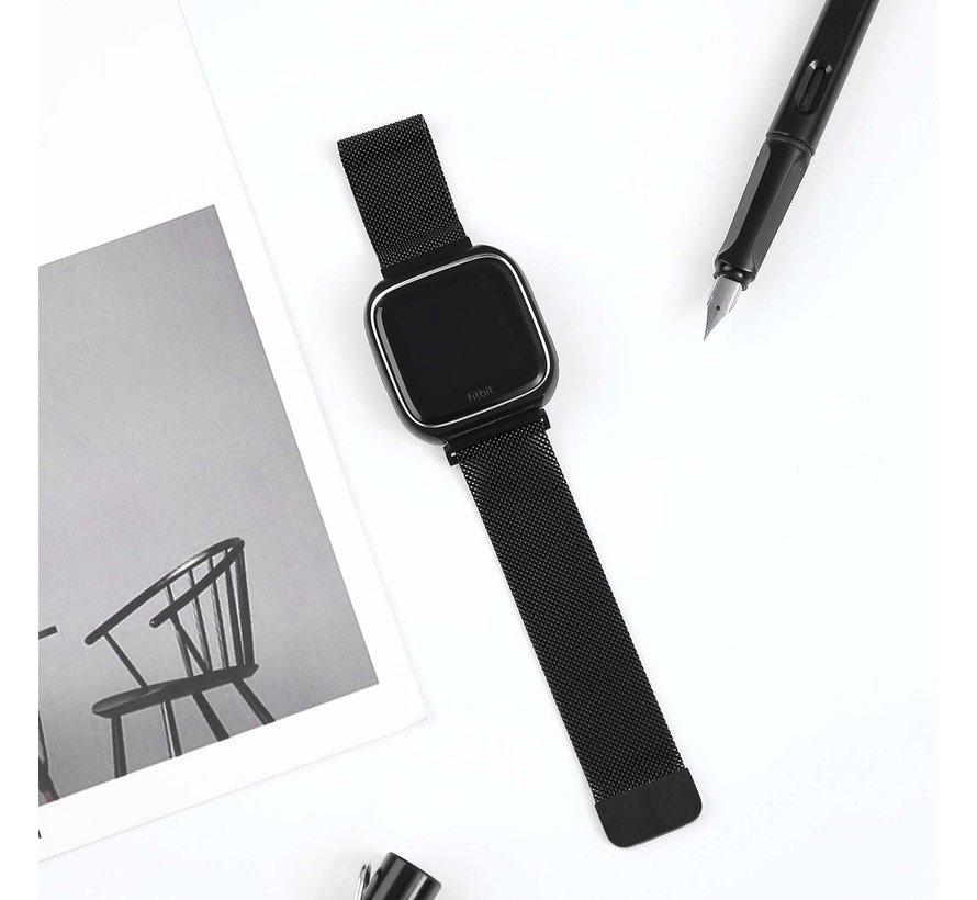 Fitbit versa milanese case band - zwart