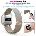 123Watches.nl Fitbit versa milanese case band - champagner