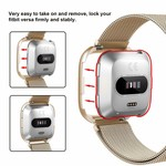 123Watches.nl Fitbit versa milanese case band - champagne